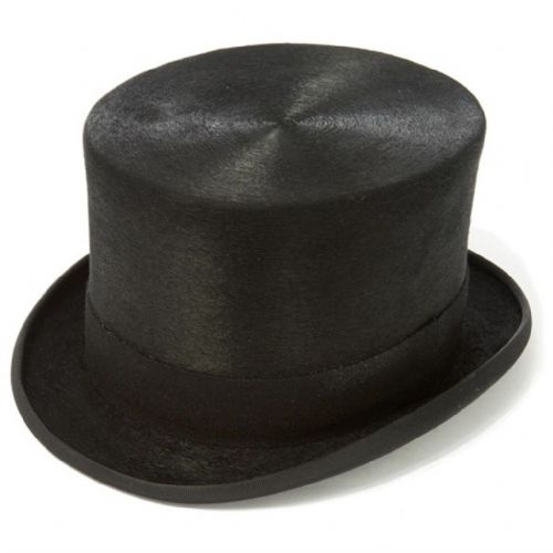 "Christys Melusine Fine Fur Felt Polished Top Hat 5¼"" Last Few. Reduced to Clear"